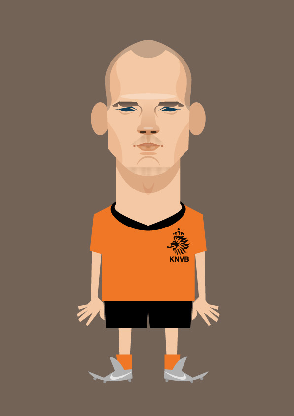 sneijder Famous Footballers Illustrated by Stanley Chow