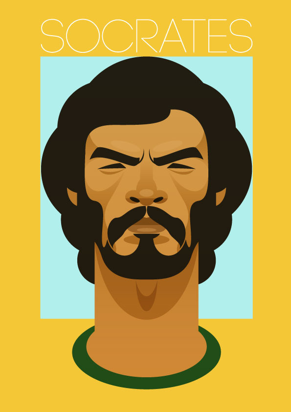 socrates Famous Footballers Illustrated by Stanley Chow
