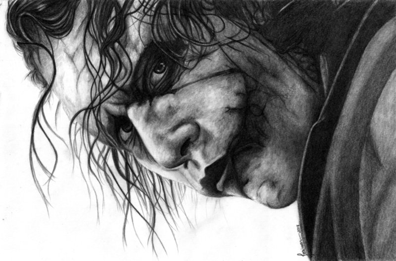 the joker by esteljf1 Why So Serious: 30 Incredible Joker Illustrations
