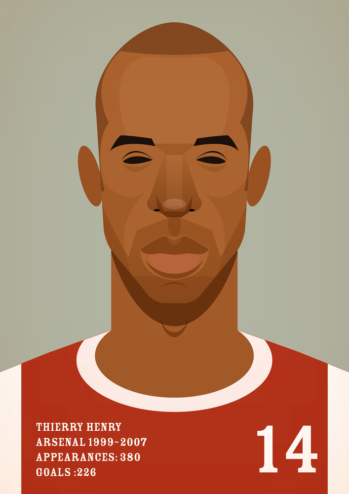 thierryhenry Famous Footballers Illustrated by Stanley Chow