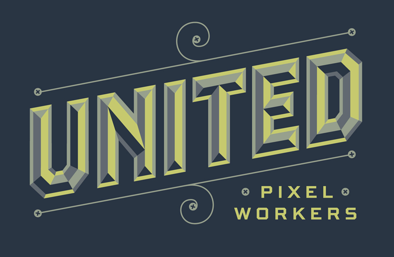 unitedpixel1 20 Robust Typography Artworks by Jessica Hische