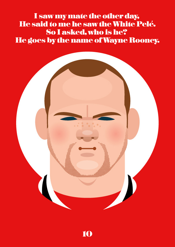 wayne2012 Famous Footballers Illustrated by Stanley Chow