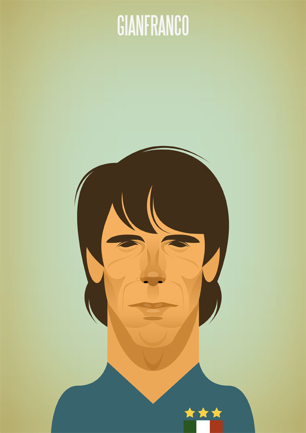 zola Famous Footballers Illustrated by Stanley Chow