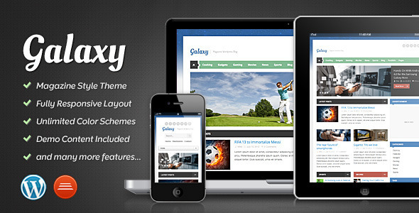 0 theme preview galaxy   large preview1 55 Brilliant Blog and Magazine WordPress Themes