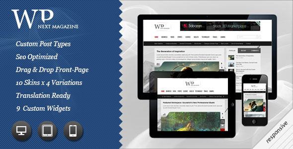 00 preview   large preview13 55 Brilliant Blog and Magazine WordPress Themes