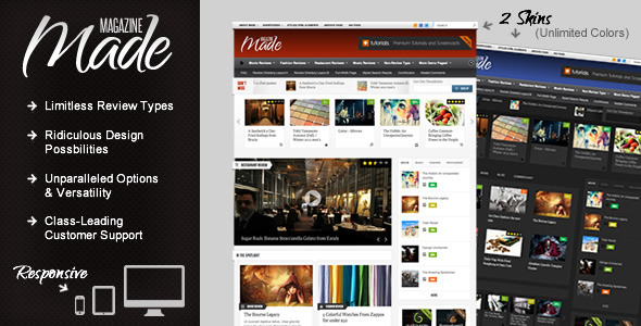01   large preview12 55 Brilliant Blog and Magazine WordPress Themes