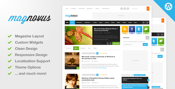 01 preview   large preview1 55 Brilliant Blog and Magazine WordPress Themes