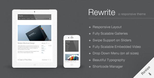 Rewrite Responsive WordPress Theme