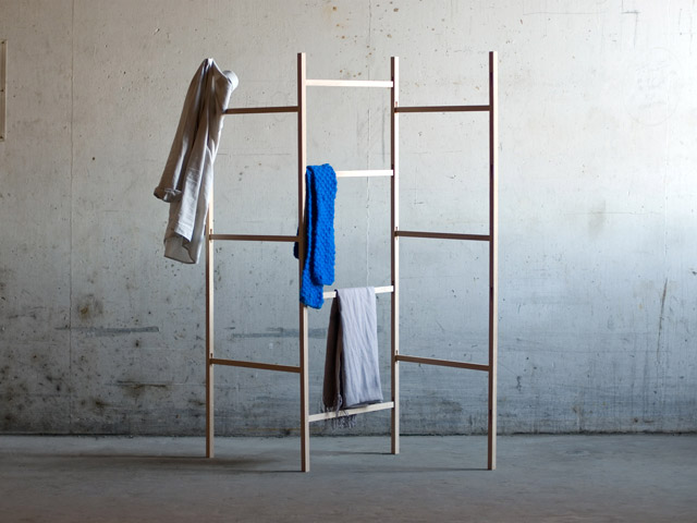 Knock Down-Cloth Rack by Jakob Jørgensen