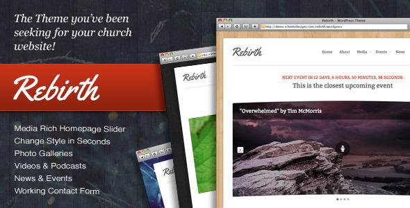 Rebirth - The WordPress Theme for Churches