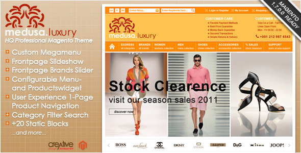 01 exdress   large preview1 40 Elite e Commerce Magento Templates