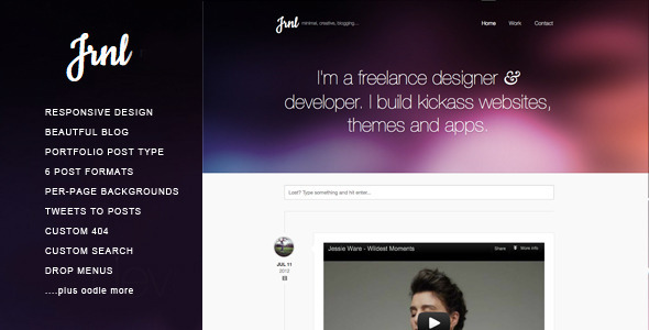 JRNL Responsive WordPress Theme for Creatives