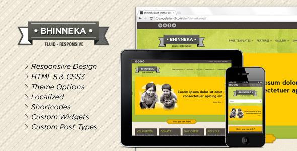 Bhinneka - a Responsive WordPress Theme