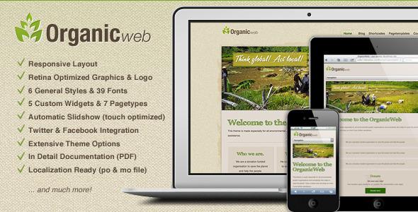 Organic Web - Environmental WordPress Theme
