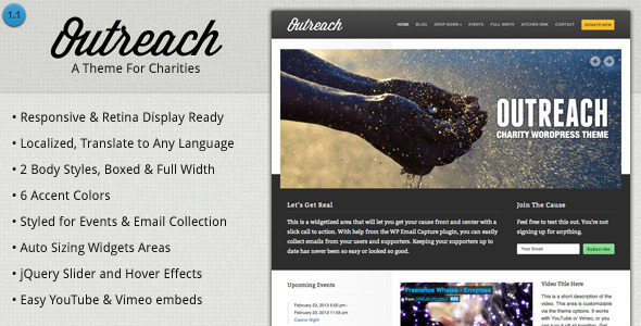 Outreach - Charity WordPress Theme