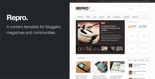 Repro - Premium WordPress News / Magazine Theme