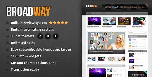 Broadway - A WordPress Magazine Theme