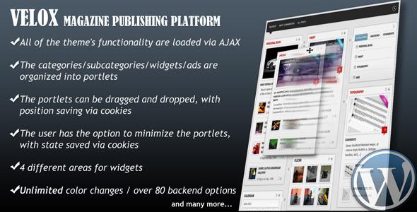 VELOX-Drag & Drop Magazine Publishing Platform