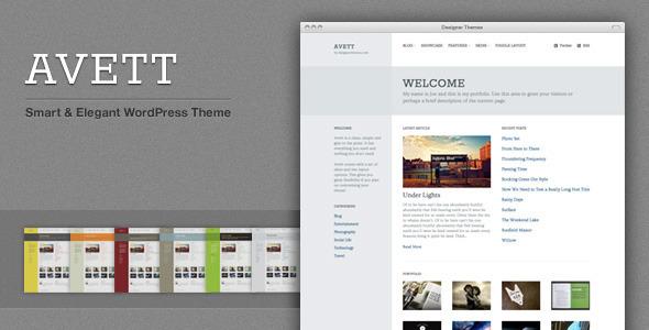 Avett, an Elegant WordPress Theme with Flavor