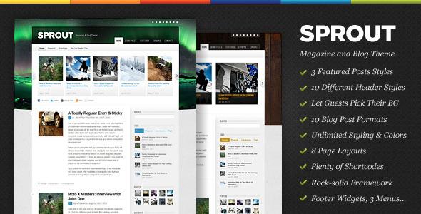 Sprout - Magazine & Blog WordPress Theme