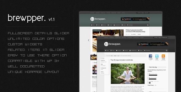 Brewpper - A Premium & Dynamic News Theme