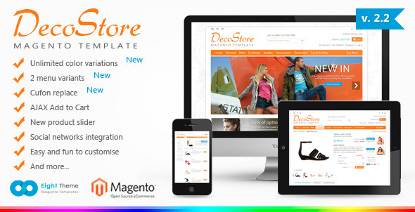 Decostore magento theme download.