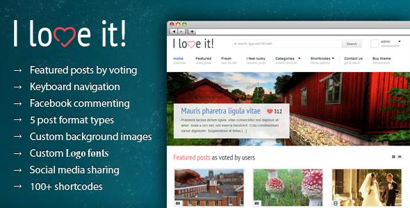 I Love It! - Content Sharing WordPress Theme