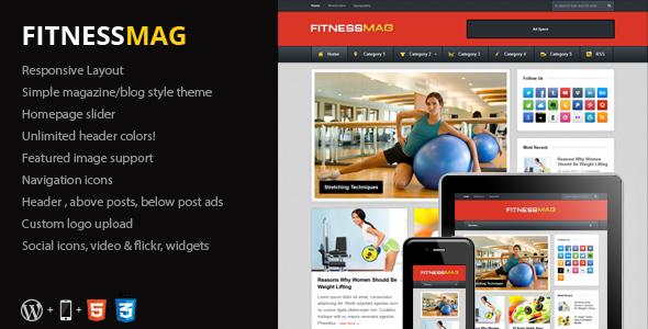 FitnessMag - Responsive Blogging WordPress Theme