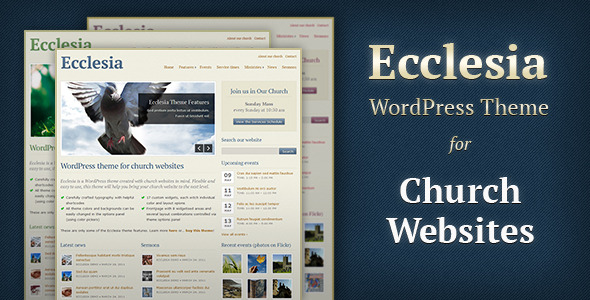 1 ecclesiathemepreview   large preview1 30 Charity, Non Profit and Donation Wordpress Themes