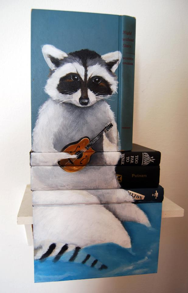 299923 271581069536174 3171272 n Painted Book Sculptures by Mike Stilkey