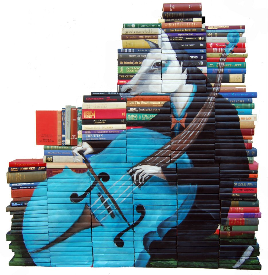 312938 280460878648193 1516873358 n Painted Book Sculptures by Mike Stilkey