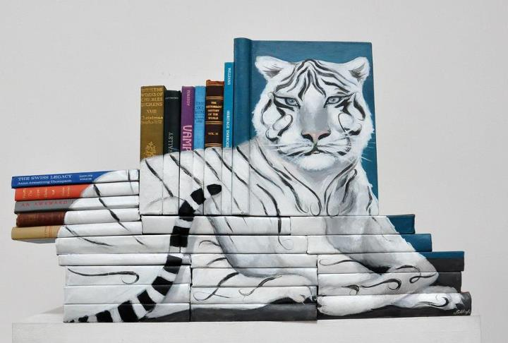 313933 271578769536404 3777568 n Painted Book Sculptures by Mike Stilkey