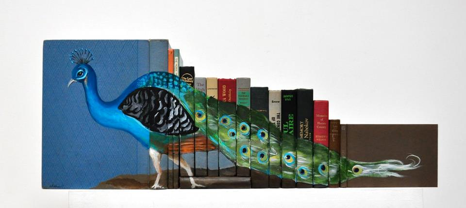 318507 271579446203003 90222 n Painted Book Sculptures by Mike Stilkey