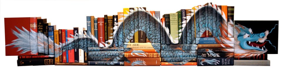 385676 406789642681982 302562368 n Painted Book Sculptures by Mike Stilkey