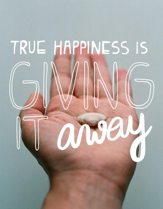 What will you give away today?