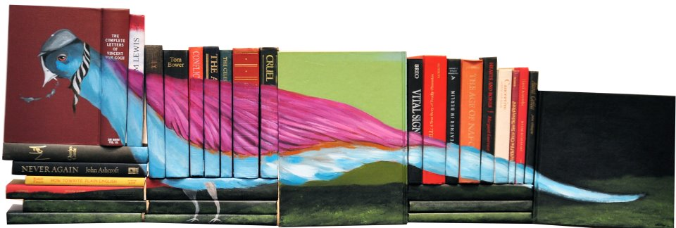 432341 388783254482621 1327856564 n Painted Book Sculptures by Mike Stilkey
