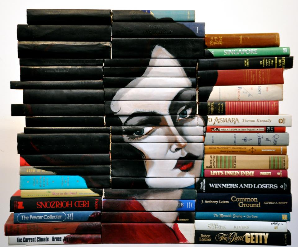 548530 405686112792335 87594910 n Painted Book Sculptures by Mike Stilkey