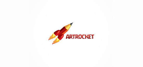 artrocket logo designs1 40 Awesome Rocket Based Logo Designs