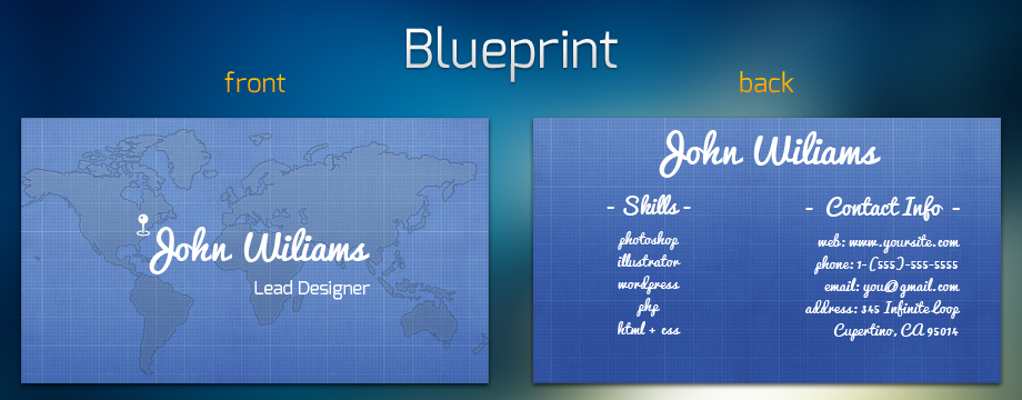 blueprint business card Business Branding   A Blueprint Guide for Beginners