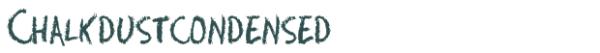 Chalkdustcondensed font