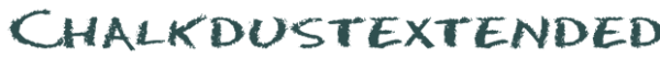 Chalkdustextended font