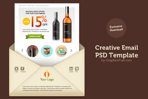 creative email newsletter template1 5 Useful Tips on Writing Effective Newsletter Articles