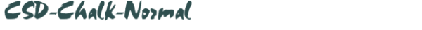 CSD-Chalk-Normal font