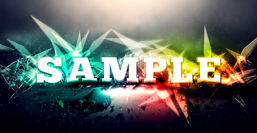 Abstract Text Effect with Brush Dynamics and Filters in Photoshop