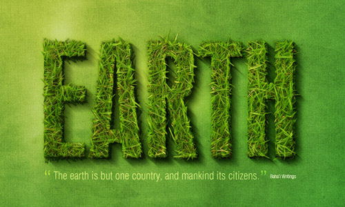 earth text1 35 Fresh Text Effect Photoshop Tutorials