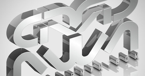 elegant glassy 3d typography1 35 Fresh Text Effect Photoshop Tutorials