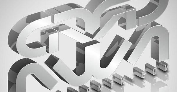 Create Elegant, Glassy, 3D Typography in Photoshop