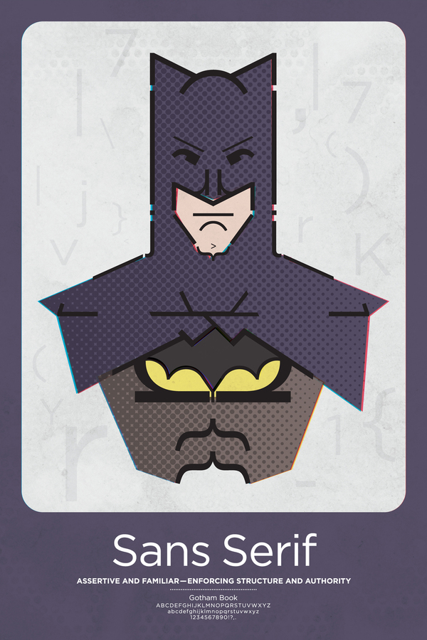Superhero Typographic Classifications