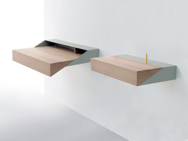 DeskBox ~ The Small & Space Smart Wall-mounted Desk