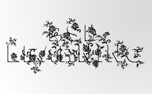 floral1 35 Fresh Text Effect Photoshop Tutorials